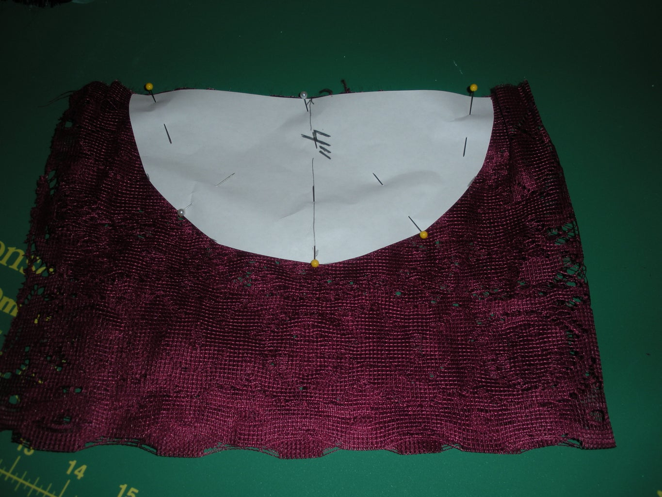 Step 2 - Cutting the Lace
