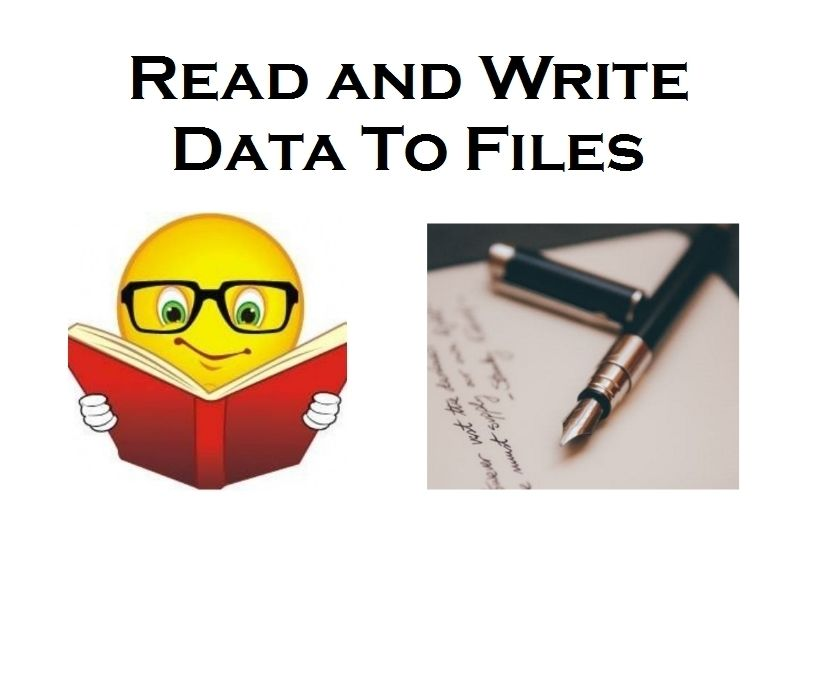 Java Code/Program - Read & Write Data From Files