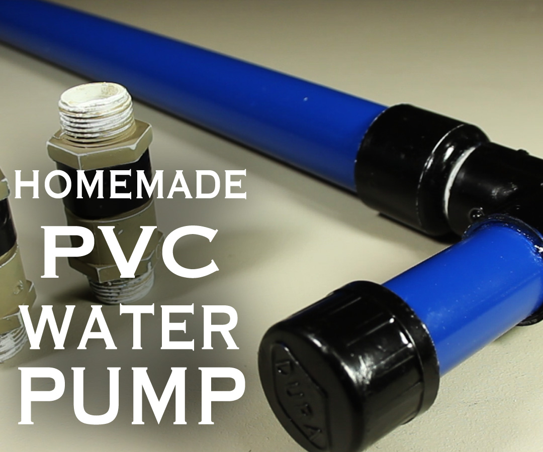 How To Make A PVC Water / Air / Vacuum Pump!