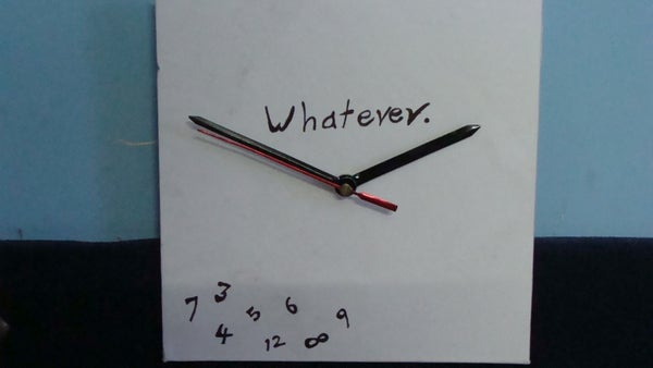 Make a Customized Clock That Runs Backwards