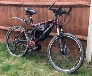 Convert a Full-suspension MTB in to a Go-anywhere Ebike