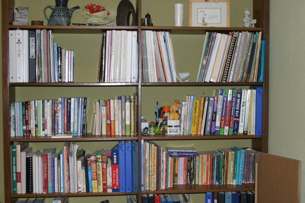 Organizing Books, Photos, and Sewing Stuff