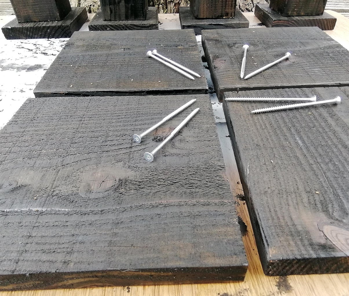 Assemble the Posts: Base Plate