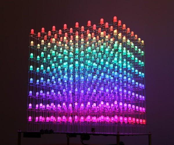 RGB LED CUBE 8x8x8 With Animation Creator