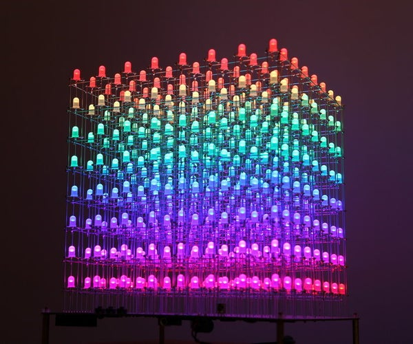 RGB LED CUBE 8x8x8 With Animation Creator