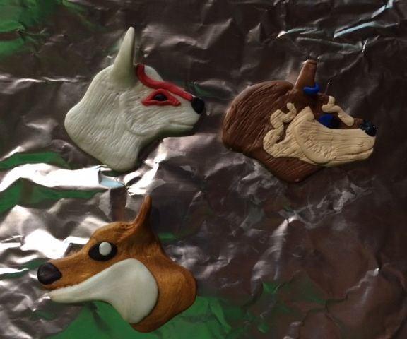 Clay Wolf Charms(Okami/Link)