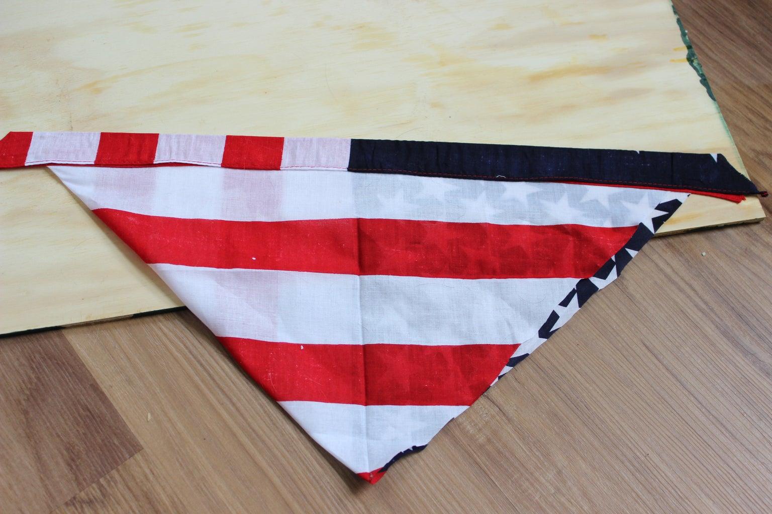 Bandana Triangle Design Part 2: Iron and Fold