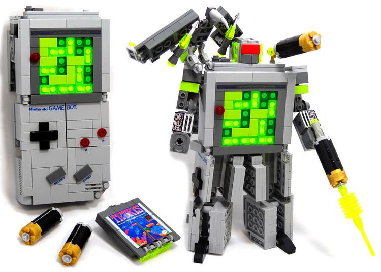 Domaster & Tetrawing - Game Boy & Tetris game transforming robots!
