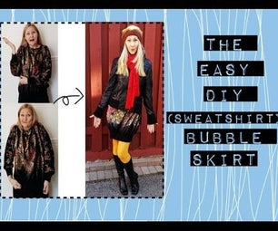 Easy DIY Sweatshirt to Bubble Skirt Refashion Tutorial Video