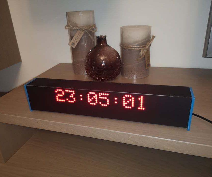 BT LED Matrix Display - 80x8 Px Arduino Based