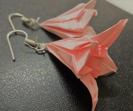 Origami Lily Flower Earrings