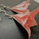 Origami Lily Flower Earrings