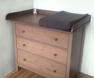 Hemnes Baby Changing Dresser - IKEA-Hack
