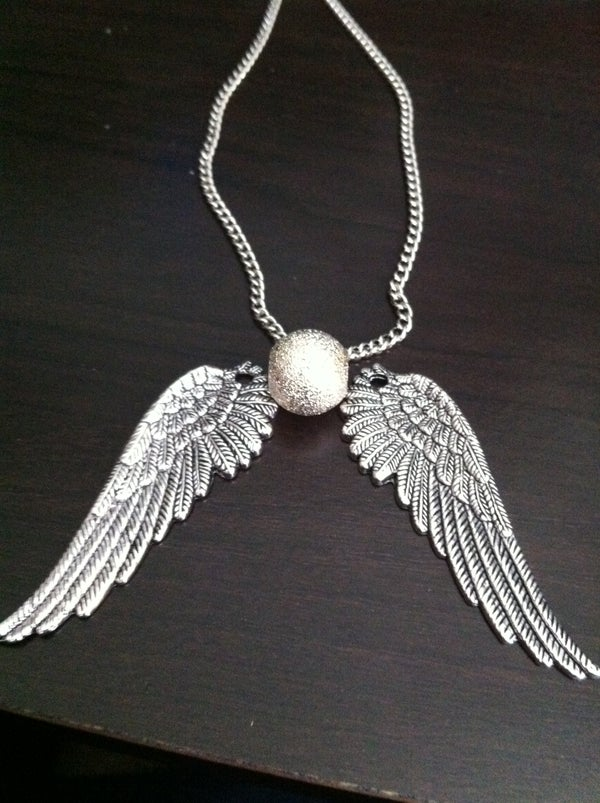 """""""Snitch"""" Necklace - Inspired by the Harry Potter Series"""