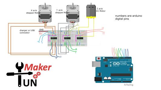 Mini Arduino Plotter Without a Servo Motor