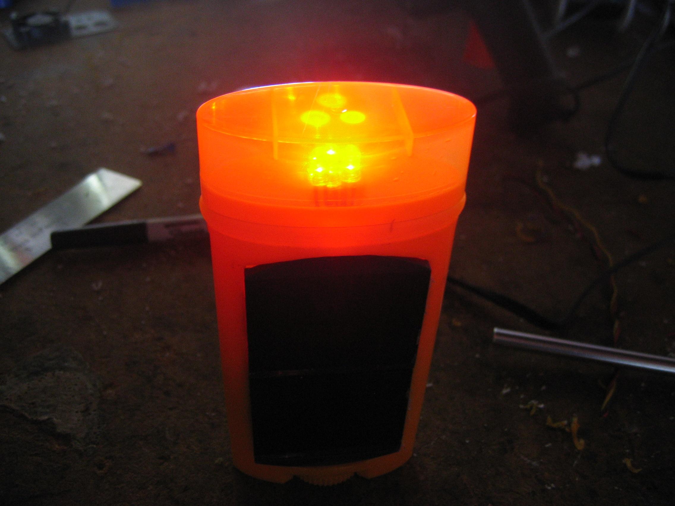deodorant solar bike light