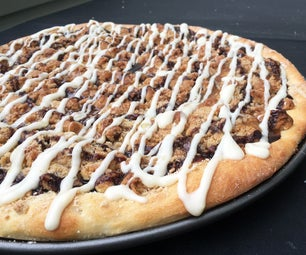 饼干面团甜点披萨
