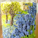 How to Make a Buttercream Oil Painting on a Cake & Pipe Bluebells