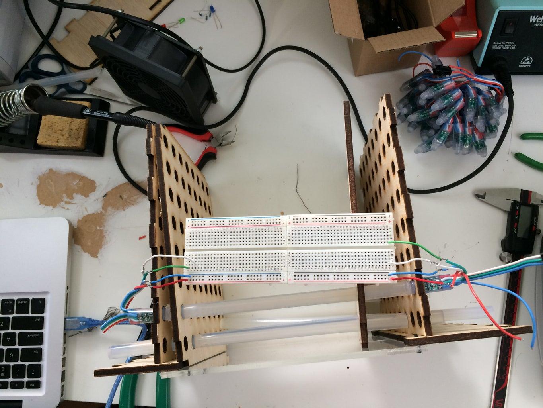 Testing Fiber Optic Gluesticks