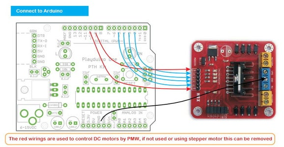 Wiring to an Arduino: