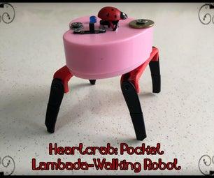Heartcrab: a Lambada-Walking Robot in Your Pocket!