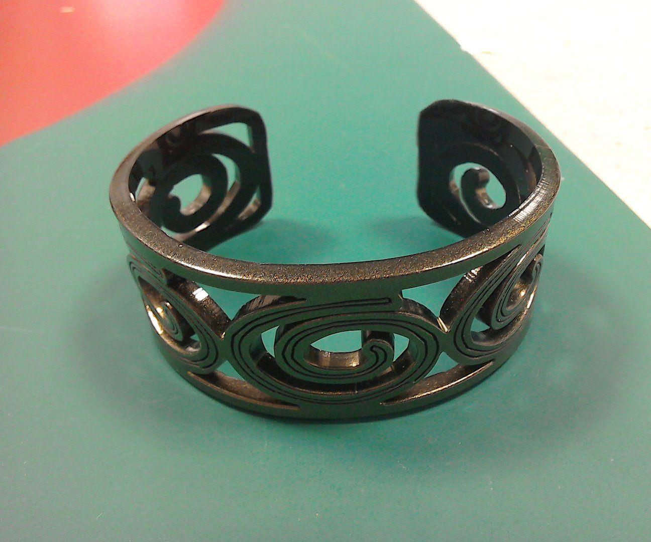 Laser Cut Cuff Bracelet