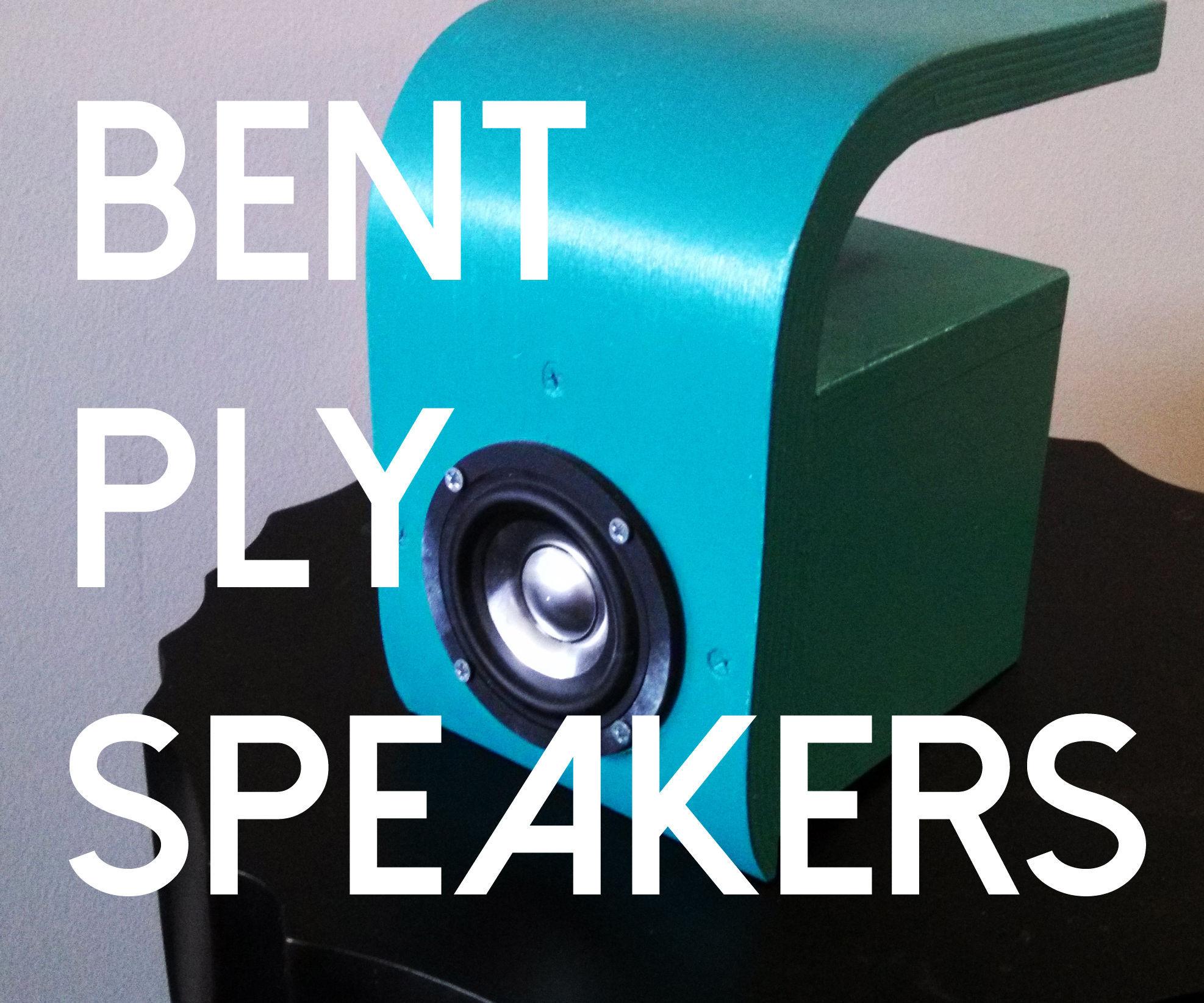 Bent Plywood Speakers