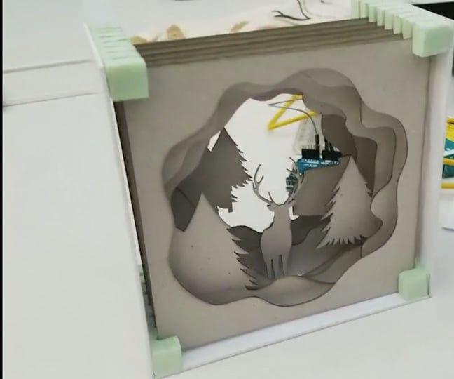 Laser Cut Chrismas Light Box