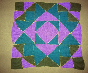 Pieced Knitted Blanket