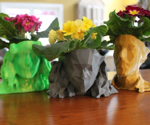 3D Printed Head Planters