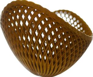 3D Metal Printed Bowl of Circles