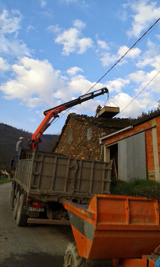 Removing the Old Stone Roof