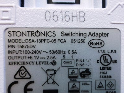 Selection of Power Adapter