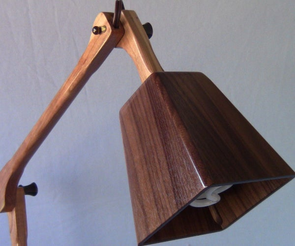 Handmade Wood Desk Lamp