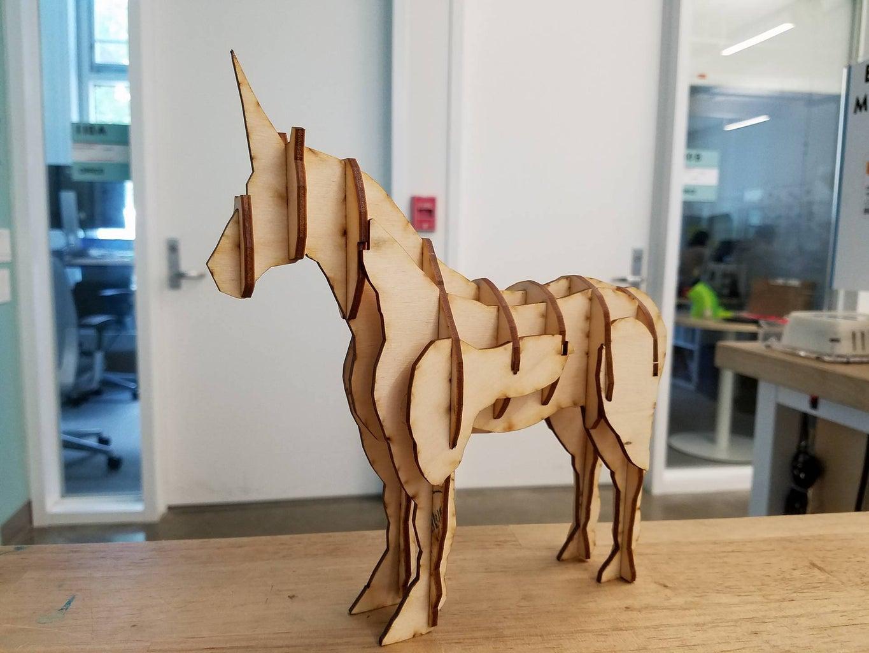 Laser Cut Unicorn
