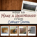 Make a Simple Headboard from Cabinet Doors