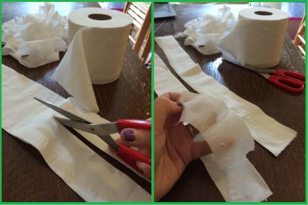 Prepare the 'mummy Bandages'