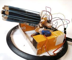 Rubber Band Gatling Gun Turret (Arduino)