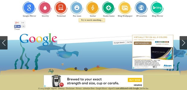 Underwater Google Interface
