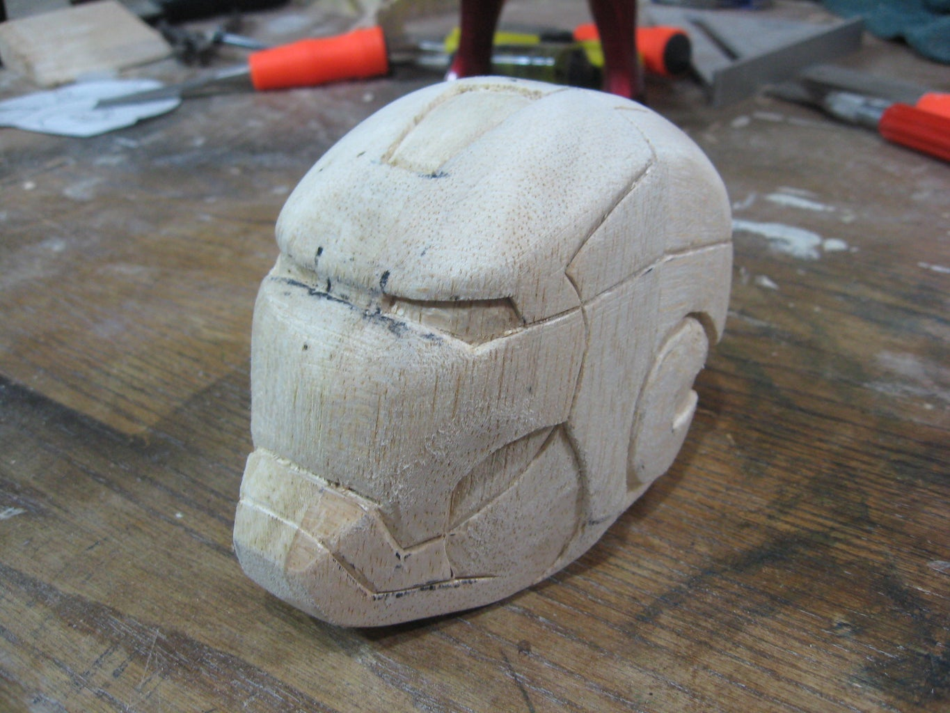 Finish Carving, Sand Smooth