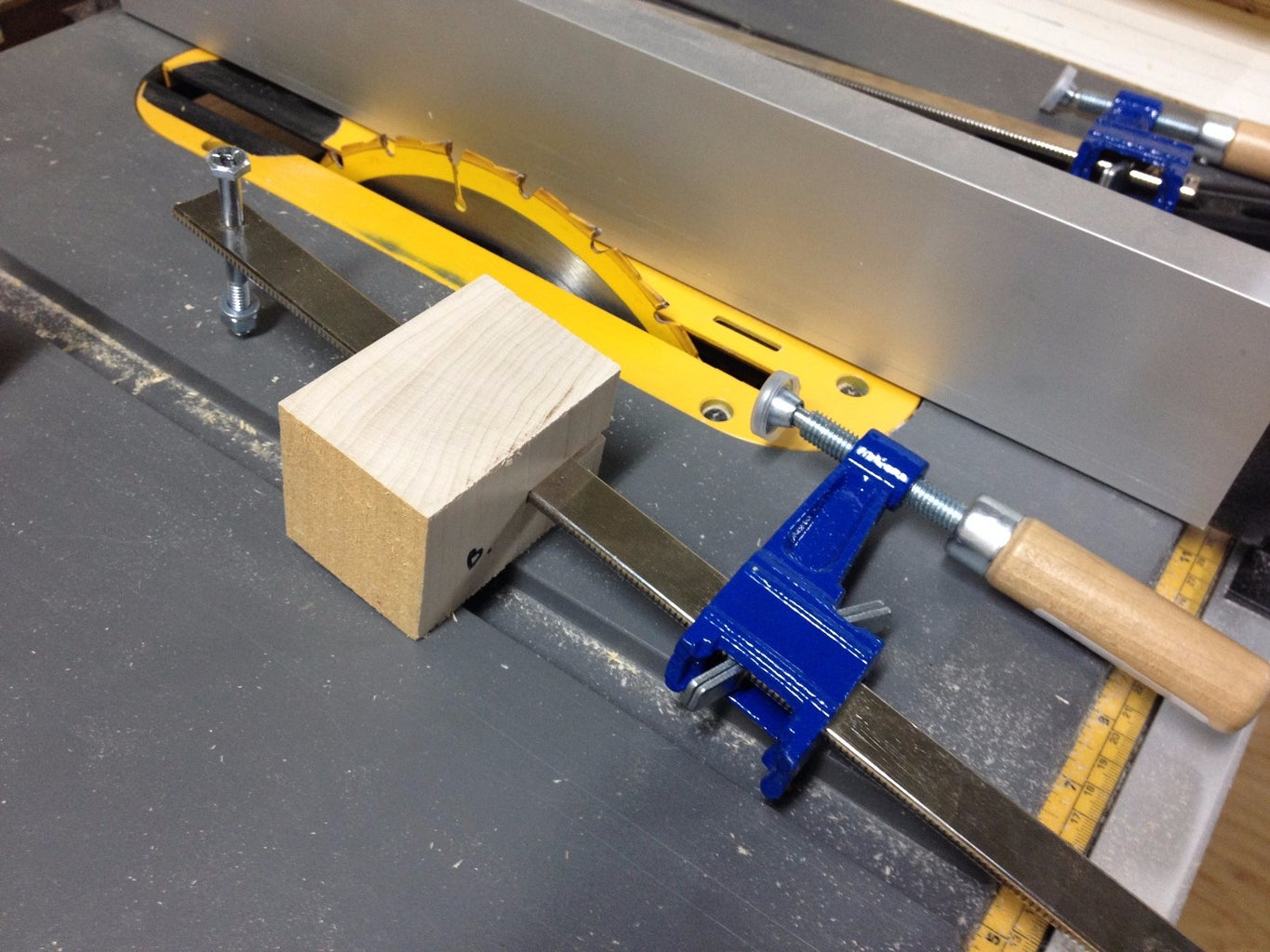 Cut Mounting Blocks From the Hardwood