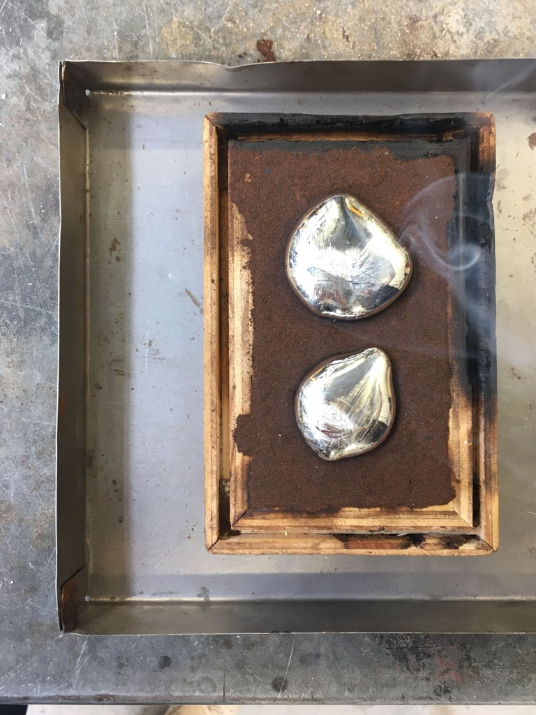 Pouring the Metal Into a Mold