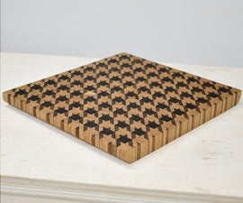 Houndstooth Pattern Cutting Board