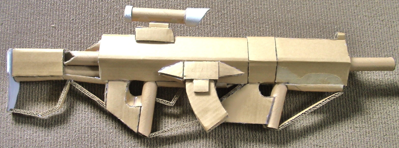 Marksman Assault Rifle 2.0 from Halo (cardboard gun)