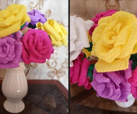 How to Make Flowers From Crepe Paper