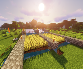 How to Build a One Button Wheat Farm in Minecraft.