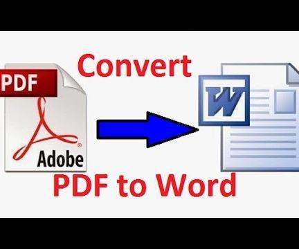 Convert pdf into Word!!