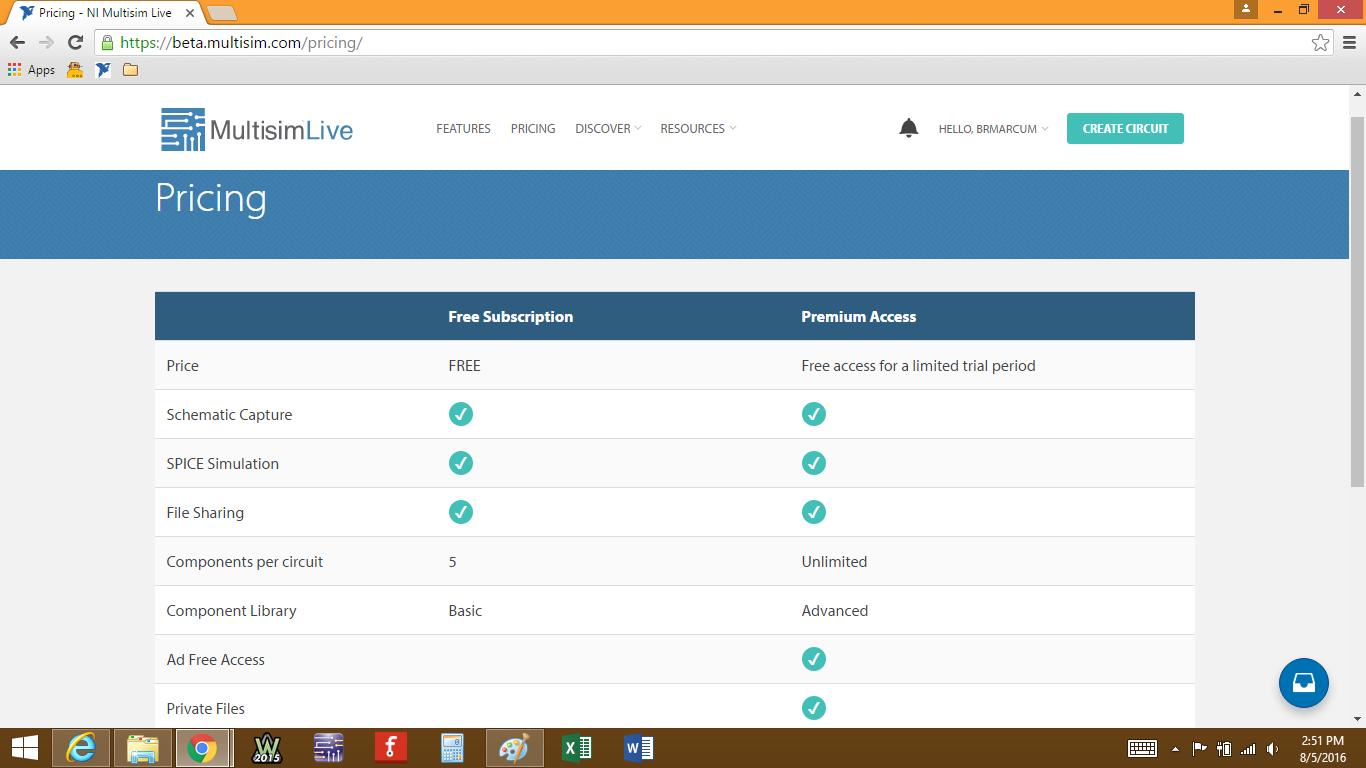 use multisim online free