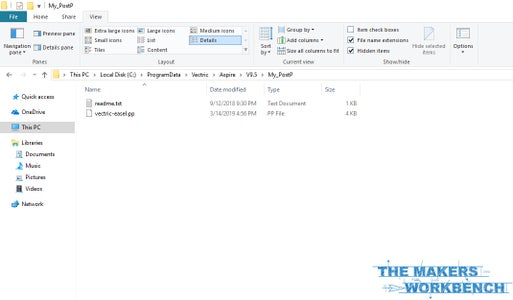 Add the Easel Post Processor File to the My_PostP Directory