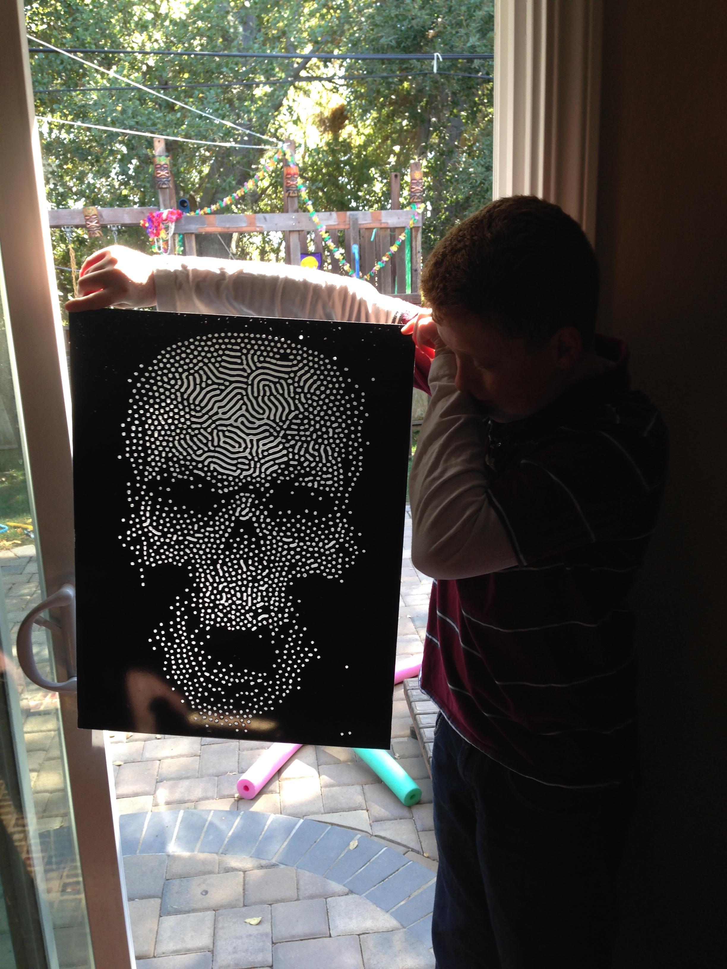 Creepy Halloween Skull Decoration